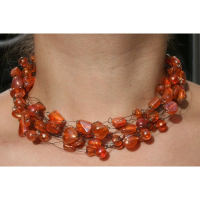 Glass Bead - Oranje